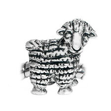 Sheep Lamb Farm Zoo Animal Large Hole European Charm Bead for Silver Bracelets