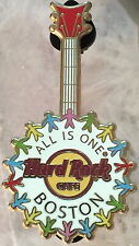 "Hard Rock Cafe BOSTON 2012 ""ALL IS ONE"" GUITAR PIN #4 of 4 - HRC Catalog #67310"