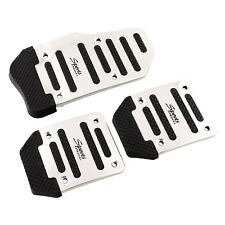 Hot 3PCS Car Auto Vehicle Non-slip Pedal Foot Treadle Cover Pad Aluminium