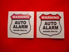 AUTO CAR TRUCK ALARM SECURITY WARNING DECAL STICKERS for WINDOWS or DOORS