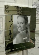 Silver Colour Photo/Picture Frame Asymetric Design Free Standing & Wall Hanging