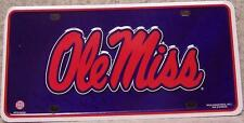 NCAA Aluminum License Plate University of Mississippi Ole Miss Rebels NEW