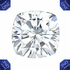 2CT Forever One Moissanite Cushion Cut Loose Stone Charles & Colvard 7.50mm