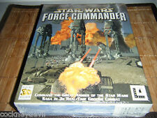 Star Wars Force Commander   RARE SEALED 2000 big box  PC DevilishlyNEW