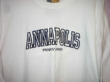 NWT Embroidered Annapolis Maryland T Shirt White XL