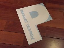 "Powerstroke Decal 12"" P Back Window Decal Sticker Diesel White"