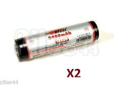 2 Pile 18650 Efest Li-ion 3.7V 3400Mah Protected Accus Batterie Rechargeable