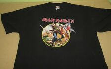 Vntg IRON MAIDEN Concert  T Shirt Sz XL 2008 SOMEWHERE BACK IN TIME WORLD TOUR