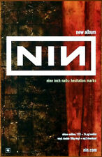 NINE INCH NAILS Hesitation Marks Discontinued Ltd Ed RARE Release Poster! NIN