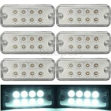 6x 12V 8 LED Side Marker Light Lamp Truck Trailer Lorry Caravan Waterproof White