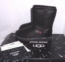 UGG Star Wars Darth Vader Classic Short Leather Boots Kids 4US fits Women 6US