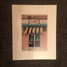 Moms Restaurant Color Photo of Original Hand Painted Black & White - Allan Teger