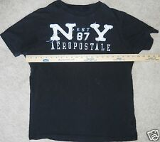 AEROPOSTALE 1987 New York Cotton Black White