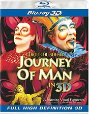 CIRQUE DU SOLEIL JOURNEY OF MAN BLU RAY 3D NEW FACTORY SEALED! ORIGINALLY IMAX