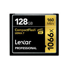 Lexar 128GB 1066X Compact Flash CF Memory Card For Camera DSLR 160MB/s UDMA 7