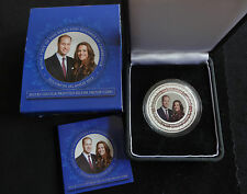2012 SILVER PROOF COLOUR SOLOMON ISL'S $2 COIN BOX + COA ROYAL VISIT WILLIAM