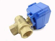 3 way motorized ball valve DN15(Reduce port), electric motorized valve L-Port