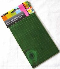 NEW 260 SELF ADHESIVE GLASS MIRROR SQUARES TILES MOSAIC ART CRAFT 7MM SIL GREEN