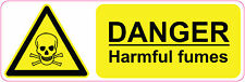 300 x 100 mm DANGER -  HARMFUL FUMES  health and safety | signs/stickers