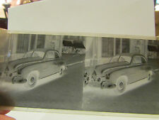 ancienne plaque verre stereo stereoscopique photo automobile voiture N