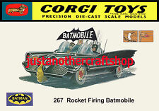 Corgi Toys 267 Batman Batmobile 1966 Large Size Poster Advert Leaflet Shop Sign