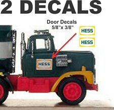 1977 1978 Restoration Hess Tanker Truck Decals For Side Doors and More