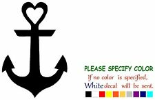 Anchor wth Heart Funny Vinyl Decal Sticker Car Window laptop tablet netbook 7""