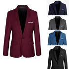 Stylish Men's Casual Slim Fit Formal One Button Suit Blazer Coat Jacket Tops Top