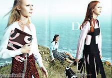 PUBLICITE ADVERTISING 066  2015  Dior  haute couture (2p) à Granville sacs