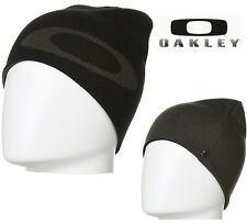 New OAKLEY Men's Mainline Reversible Beanie | Black OSFM Golf Snow Ski Winter