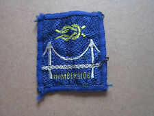 Humberside Woven Cloth Patch Badge Boy Scouts Scouting