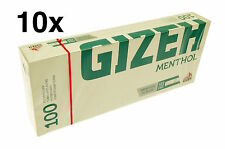 1000 GIZEH MENTHOL KING SIZE MAKE YOUR OWN CONCEPT CIGARETTE FILTER TUBES KS