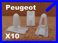 10 Peugeot 205 replacement Plastic bumper moulding fastener clips
