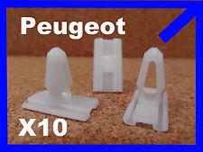 10 Peugeot 205 plastique de remplacement pare-choc moulage clip de fixation