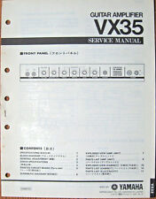 YAMAHA VX35 Guitar Amplifier Original Service Manual, Schematics Parts List Book