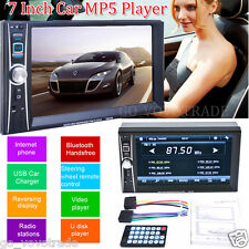 New 7 Inch 2 Din Touchscreen In dash Car Stereo Radio Mp5 CD DVD Player FM Aux