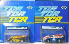 2 pc. 1978 Ideal TCR MK 1 Can Pro Am Mk II & III Slot Less Car Slotless Sealed