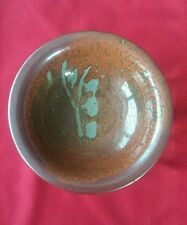 VINTAGE HARRY DAVIS~ CROWAN POTTERY~ IRON GLAZE~BOWL