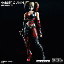 PLAY ARTS KAI BATMAN HARLEY QUINN ARKHAM CITY FIGURE By Square Enix ~BRAND NEW~
