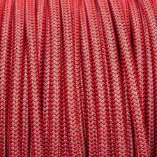Rojo Y Negro Ronda Trenzado Tejido Cable 3-core 0.5 mm Para Iluminación (Cable Textil)