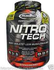 MUSCLETECH NITROTECH PERFORMANCE SERIES PROTEIN WHEY 4 LBS-STRAWBERRY-NITRO TECH
