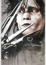EDWARD SCISSORHANDS / JOHNNY DEPP Print HAND SIGNED by ROB PRIOR