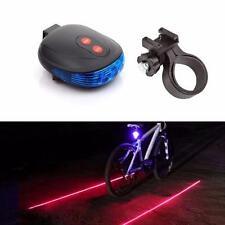 2 Laser+5 torcia LED Luce posteriore Bicicletta Trail Sicurezza Blu