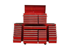 """29 US PRO Tools Red Tool Chest Box Snap It Up 2 side cabinet 75"""" Finance option!"""
