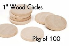 LOT of 100 ~ 1 Inch Wood Circle ~ Craft Disk ~ Pendants & Magnets ~ by PLD