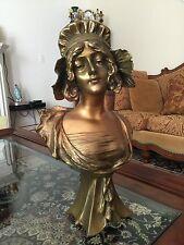 Antique Henri Jacobs Bronze Bust