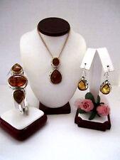 "Brighton ""BERNSTEIN"" Necklace-Earring-Bracelet Set (MSR$314) NWT/Pouch"