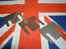 Triumph TR5 TR6 ONE FULL SET OF 9 REAR TRAILING ARM SHIMS IN STAINLESS STEEL.