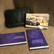 2016 Subaru Impreza Owners Manual with service/warranty guides and case