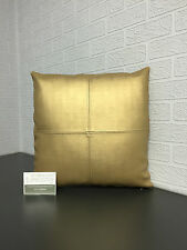 Handmade Faux Leather/ Brushed Vinyl Scatter Cushion in Gold